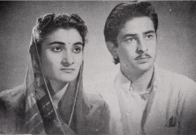 राज कपूर अपनी पत्नी कृष्णा के साथ